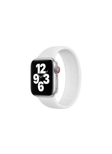 Jacobson Apple Kordon Solo Loop Watch 6 42Mm-44Mm Kordon Kayış Beyaz